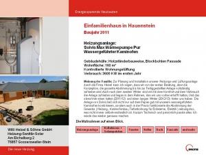 Einfamilienhaus in Hauenstein 2011