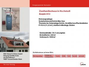 Zweifamilienhaus in Hochstadt 2012